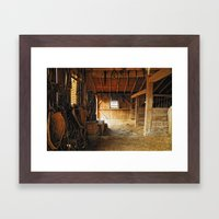 Early morning at Slate Run Framed Art Print