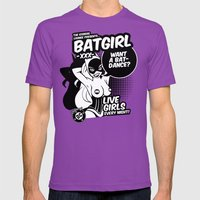 Ladies of DC - Batgirl Mens Fitted Tee Ultraviolet SMALL
