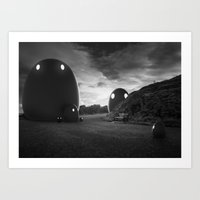 That group of monsters Art Print