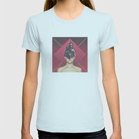 dark crystal princess  Womens Fitted Tee Light Blue SMALL