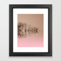 Branches and Birds Framed Art Print