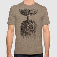 One Tree Planet Mens Fitted Tee Tri-Coffee SMALL