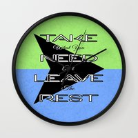 Take What You Need Wall Clock