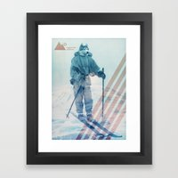 Husky Exploration Framed Art Print