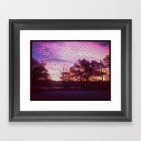 Pink Sunrise Framed Art Print