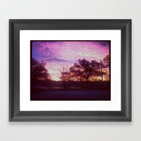 Pink Sunrise Framed Art Print