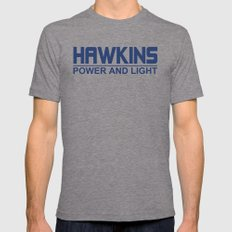 Hawkins Mens Fitted Tee Tri-Grey SMALL