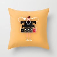 Back To Kitsch Business Throw Pillow