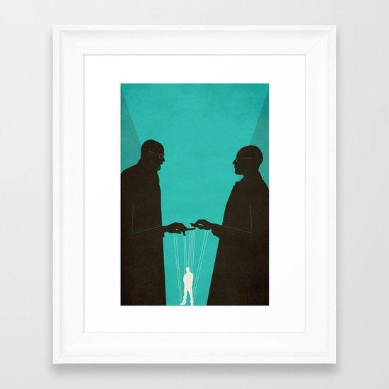 Face Off Framed Art Print