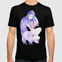 Galaxy Wanderer Mens Fitted Tee Black SMALL