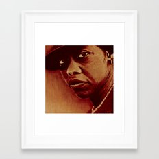 oil pastel style Framed Art Print