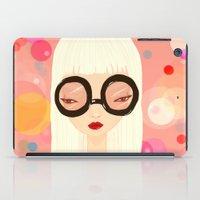 Girl With Big Glasses (I… iPad Case