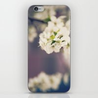 White Floret iPhone & iPod Skin