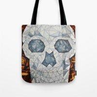 Galvanized Skull Tote Bag