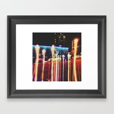 Insta Light Streaks Framed Art Print