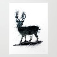 Universal Woodlands Deer Art Print