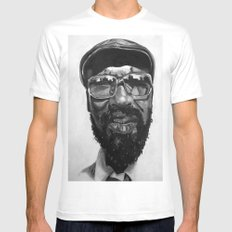 monk White SMALL Mens Fitted Tee