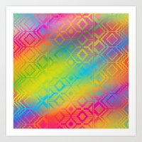 inca rainbow Art Print