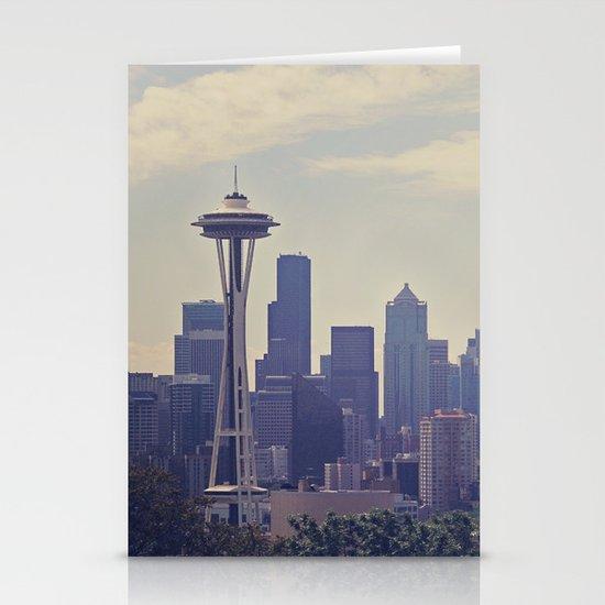 Seattle Skyline Stationery Card