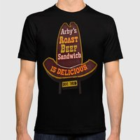 Arby's Americana Mens Fitted Tee Black SMALL