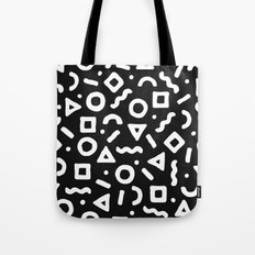 Abstract Pattern 002 - Black Tote Bag