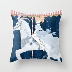 Carousel: A Dream is a Wish Throw Pillow