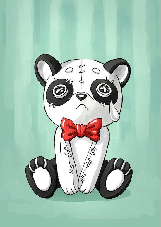 Panda Doll Art Print