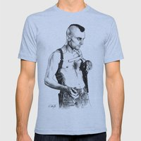 Taxi driver Robert de niro Mens Fitted Tee Athletic Blue SMALL