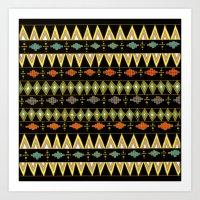 Freedom (gold-black) Art Print