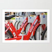 Madison Bicycles Art Print