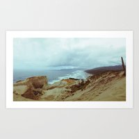 Distant Cape Lookout Art Print