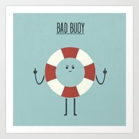 Bad Buoy Art Print