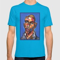 Channing Mens Fitted Tee Teal SMALL