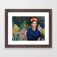 Frida et sa nature vivante Framed Art Print