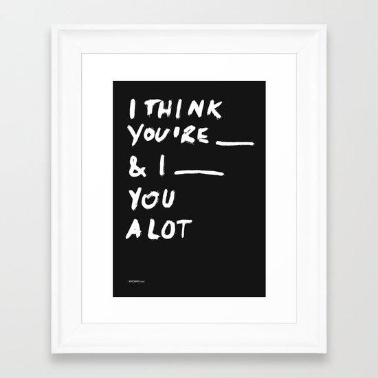 ____ Framed Art Print