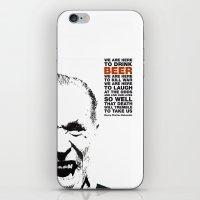 beer&bukowski iPhone & iPod Skin