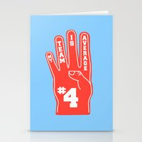 Foam Finger Stationery Cards