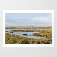 Low Tide Salt Marsh At O… Art Print