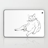 Fat Cat Illustration Laptop & iPad Skin