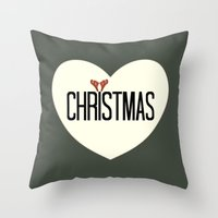Merry Christmas 1- Holid… Throw Pillow