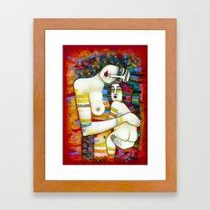MADONE (hommage to Klimt) Framed Art Print