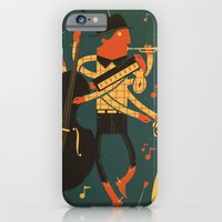 iPhone & iPod Case featuring Music Man by Mikuloctopus