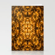 Golden Kaleidoscope Stationery Cards