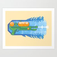 Supersoaker Art Print