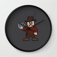 Nightmare on Pixel St. Wall Clock