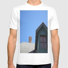 BLUE SKY White Mens Fitted Tee SMALL