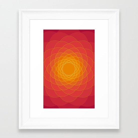 Oriental Background Framed Art Print