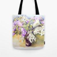 Lilacs bouquet Tote Bag
