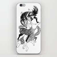 Femme Loup Tattoo iPhone & iPod Skin