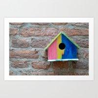 Birdhouse 2 Art Print